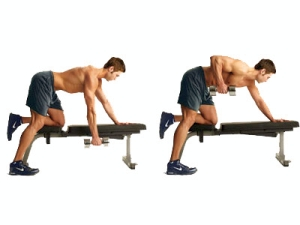 Bent-over one arm Dumbell Rows